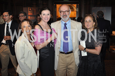 Frances Hardin, Marilyn Stern, Ilya Levin, Beth Mendelson.  The Pen/Faulkner Awards at the Folger Shakespeare Library.  Photo by Ben Droz.