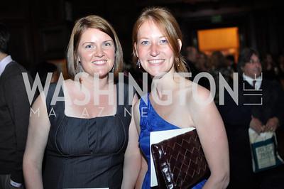 Melanie Agnew, Claire Berke.  The Pen/Faulkner Awards at the Folger Shakespeare Library.  Photo by Ben Droz.