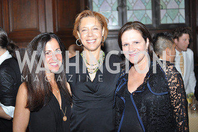 Molly Elkin, Lisa Page, Andrea Weiswasser.  The Pen/Faulkner Awards at the Folger Shakespeare Library.  Photo by Ben Droz.