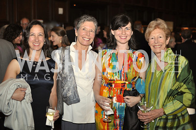 Amy Stolls, Susan Clampitt, Carlyn Madden, Ann Geracimos. The Pen/Faulkner Awards at the Folger Shakespeare Library.  Photo by Ben Droz.