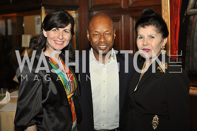 Carlyn Madden, Lionell Thomas, Judith Terra.  The Pen/Faulkner Awards at the Folger Shakespeare Library.  Photo by Ben Droz.