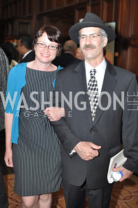 Stephanie Shanks, S.L. Wallace. The Pen/Faulkner Awards at the Folger Shakespeare Library.  Photo by Ben Droz.