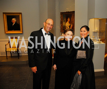 Ted Alfond, Linda Kaufman,Barbara Alfond,October 3,2012Preview Reception for Masterpieces of American Furniture from the Kaufman Collection National Gallery of Art,Kyle Samperton