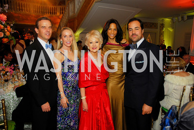Evan Jones,Cindy Jones,Carol Lascaris,Chris Delgatto,Veronica Webb,,April 27,2012,National Museum of Women in the Arts 25th Anniversary Gala.Kyle Samperton