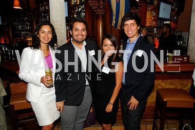 Sandra Medina,Victor Baten,Cecilia Majors,Alex Gabriel,July 18,2012,The Raben Group Ten Year Celebration at  Cuba Libre,Kyle Samperton