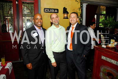 Jamal Simmons,Robert Raben,Estuardo Rodriguez,July 18,2012,The Raben Group Ten Year Celebration at  Cuba Libre,Kyle Samperton