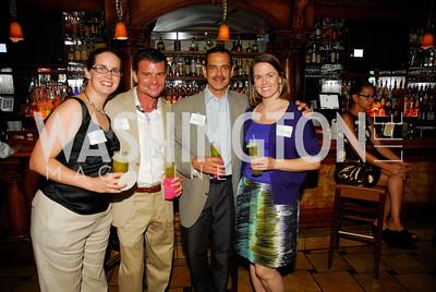 Ellie Collinson,Jorge Cos,Danny Carbrera,Katherine Huffman,July 18,2012,The Raben Group Ten Year Celebration at  Cuba Libre,Kyle Samperton