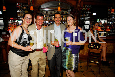 Ellie Collinson,Jorge Cos,Danny Carbrera,Katherine Huffman,July 18,2012,The Raben Group Ten Year Celebration at  Cuba Libre,Kyle Samperton