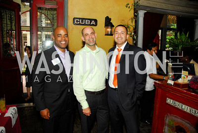 Jamal Simmons,Robert Raben,Estuardo Rodriguez,July 18,2012,The Raben Group Ten Year Celebration at  Cuba Libre,Kyle Samperton