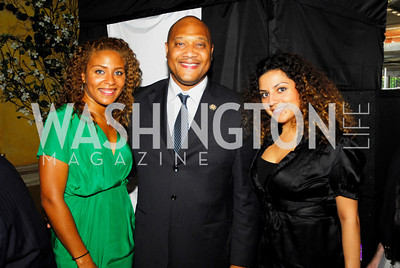 Christina Weaver,Rep.Andre Carson,Asal Sayas,July 18,2012,The Raben Group Ten Year Celebration at  Cuba Libre,Kyle Samperton