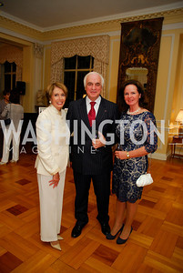 Rep. Nancy Pelosi, Amb. Jan Matthysen, Agnes Matthysen,  July 11,2012, Reception for the Italian-American Congressional Delegation of the 112th U.S. Congress at Villa Firenze, Kyle Samperton
