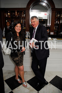 "Jay Newton-Small, Mike Elliot, Reception for ""A Good Man"" by Mark Shriver at the Jefferson Hotel, June 6, 2012, Kyle Samperton"
