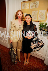 "Juleanna Glover, May Zheng, Reception for ""A Good Man"" by Mark Shriver at the Jefferson Hotel, June 6, 2012, Kyle Samperton"