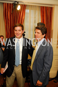 "Luke Russert, Mark Shriver, Reception for ""A Good Man"" by Mark Shriver at the Jefferson Hotel, June 6, 2012, Kyle Samperton"
