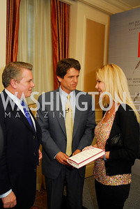 "Jack Quinn, Mark Shriver, Susanna Quinn, Reception for ""A Good Man"" by Mark Shriver at the Jefferson Hotel, June 6, 2012, Kyle Samperton"