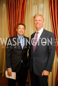 "Steve Chenevey, Fred Ryan, Reception for ""A Good Man"" by Mark Shriver at the Jefferson Hotel, June 6, 2012, Kyle Samperton"