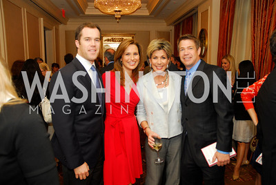 "Peter Alexander, Alison Starling, Greta Kreuse, Steve Chenevey, Reception for ""A Good Man"" by Mark Shriver at the Jefferson Hotel, June 6, 2012, Kyle Samperton"