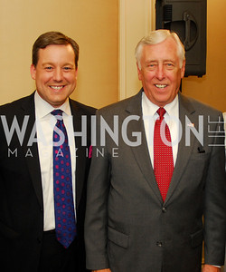 "Ed Henry, Rep. Steny Hoyer, Reception for ""A Good Man"" by Mark Shriver at the Jefferson Hotel, June 6, 2012, Kyle Samperton"