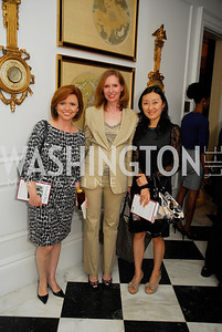 "Kelly O'Donnell, Juleanna Glover, May Zheng, Reception for ""A Good Man"" by Mark Shriver at the Jefferson Hotel, June 6, 2012, Kyle Samperton"