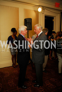 "Chris Dodd, Rep. Steny Hoyer, Reception for ""A Good Man"" by Mark Shriver at the Jefferson Hotel, June 6, 2012, Kyle Samperton"