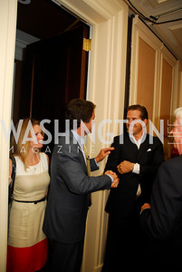 "Jeanne Shriver, Mark Shriver, Hunter Biden,  Reception for ""A Good Man"" by Mark Shriver at the Jefferson Hotel, June 6, 2012, Kyle Samperton"