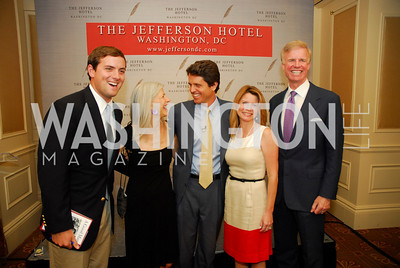 "Luke Russert, Susan Axelrod, Mark Shriver, Jeanne Shriver, Fred Ryan, Reception for ""A Good Man"" by Mark Shriver at the Jefferson Hotel, June 6, 2012, Kyle Samperton"