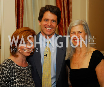 "Kelly O'Donnell, Mark Shriver, Susan Axelrod,  Reception for ""A Good Man"" by Mark Shriver at the Jefferson Hotel, June 6, 2012, Kyle Samperton"