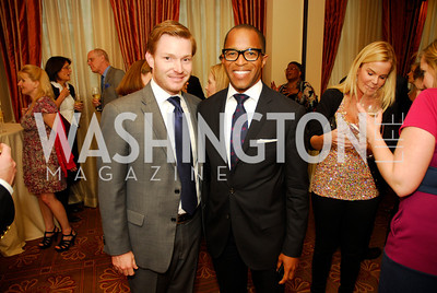 "Nick Schmit, Jonathan Capehart, Reception for ""A Good Man"" by Mark Shriver at the Jefferson Hotel, June 6, 2012, Kyle Samperton"