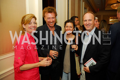 "Mary Jordan, Greg Jordan, Alicia Jordan, Kevin Sullivan, Reception for ""A Good Man"" by Mark Shriver at the Jefferson Hotel, June 6, 2012, Kyle Samperton"