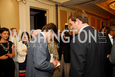 "Mark Shriver, Luke Russert, Reception for ""A Good Man"" by Mark Shriver at the Jefferson Hotel, June 6, 2012, Kyle Samperton"