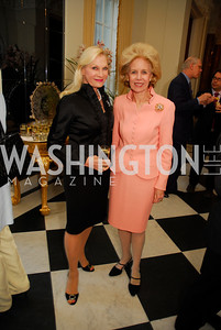 Susan Pillsbury,Ann Nitze,April 11,2012,Reception for Dame Jillian Sackler at The Residence of the British Ambassador,Kyle Samperton