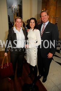 Cathy Merill Williams,Jen Haber,Brent Haber,April 11,2012,Reception for Dame Jillian Sackler at The Residence of the British Ambassador,Kyle Samperton