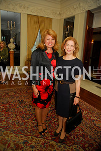 Gail Huff,Lea Berman,April 11,2012,Reception for Dame Jillian Sackler at The Residence of the British Ambassador,Kyle Samperton