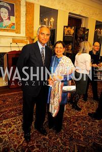 Arun Deva,Rama Deva,,April 11,2012,Reception for Dame Jillian Sackler at The Residence of the British Ambassador,Kyle Samperton