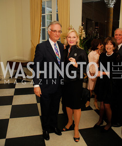 Julian Raby.Susan Pillsbury,April 11,2012,Reception for Dame Jillian Sackler at The Residence of the British Ambassador,Kyle Samperton