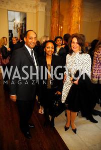 Prince Ermias Selassie,Princess Seba Selassie,Dianne Morris,April 11,2012,Reception for Dame Jillian Sackler at The Residence of the British Ambassador,Kyle Samperton