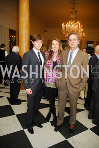 Charles Cockburn,Leslie Cockburn,Andrew Cockburn,April 11,2012,Reception for Dame Jillian Sackler at The Residence of the British Ambassador,Kyle Samperton