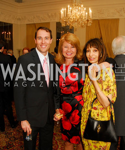 Scott Thuman,,Gail Huff, Rohini Talalla,April 11,2012,Reception for Dame Jillian Sackler at The Residence of the British Ambassador,Kyle Samperton