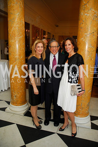 Lea Berman, Ron Dozoretz,Beth Dozoretz,April 11,2012,Reception for Dame Jillian Sackler at The Residence of the British Ambassador,Kyle Samperton