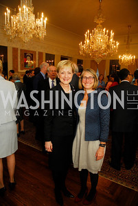 Ann Stock,Katie Ziglar,April 11,2012,Reception for Dame Jillian Sackler at The Residence of the British Ambassador,Kyle Samperton