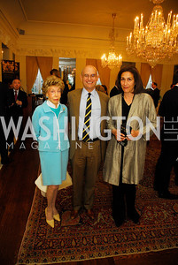 Ina Ginsburg. ,William Nitze,Debra Diamond,April 11,2012,Reception for Dame Jillian Sackler at The Residence of the British Ambassador,Kyle Samperton