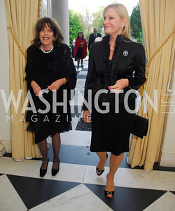 Didi Cutler,Susan Pillsbury,April 11,2012,Reception for Dame Jillian Sackler at The Residence of the British Ambassador,Kyle Samperton