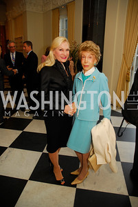 Susan Pillsbury,,Ina Ginsburg.April 11,2012,Reception for Dame Jillian Sackler at The Residence of the British Ambassador,Kyle Samperton