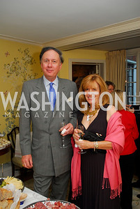 Jim Wilcox,Clarisa Ringlien,April 25,2012,Reception for Georgetown House Tour,Kyle Samperton