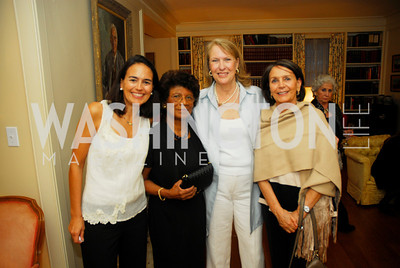 Monica Pellegrini, Maria Walker,Belinda Winslow,Monica VIal,April 25,2012,Reception for Georgetown House Tour,Kyle Samperton