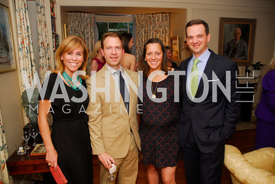 Page Evans,Andrew Law,Sarah Cannova,Chris Cannova,April 25,2012,Reception for Georgetown House Tour,Kyle Samperton
