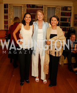 Monica Pellegrini,Belinda Winslow,Monica VIal,April 25,2012,Reception for Georgetown House Tour,Kyle Samperton