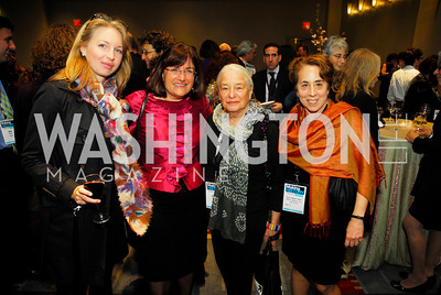 Emily Smith,Ann Kuster,Sarah Kovner, June Zeitlia,March 26,2012,Reception at J Street National  Gala,Kyle Samperton
