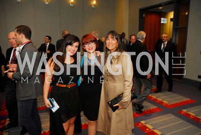 Yael Gilo,Agi Gilo,Vered Fischer,March 26,2012,Reception at J Street National  Gala,Kyle Samperton