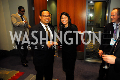 Rep.Keith Ellison,Marci Rosenberg,March 26,2012,Reception at J Street National  Gala,Kyle Samperton